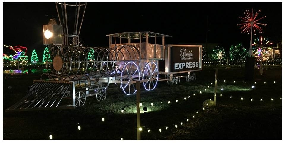 overlys country christmas train sculpture - Overly Country Christmas